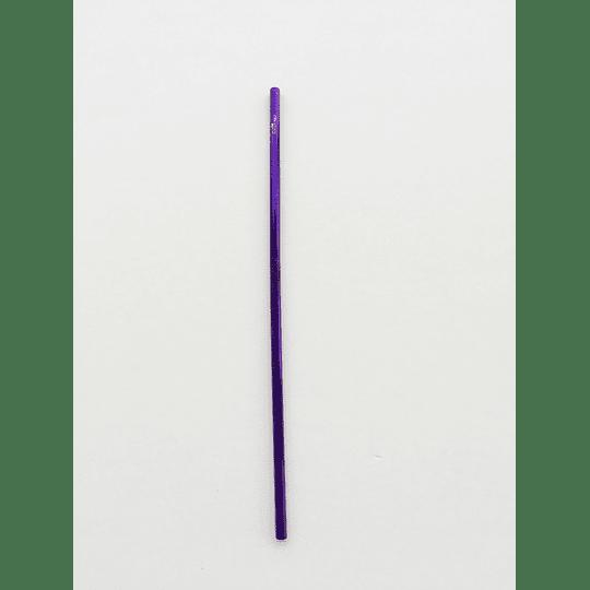 Bombilla metálica recta 24 cm