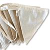Banderín decorativo reutilizable arpillera/algodon