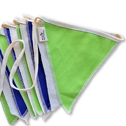 Banderín decorativo reutilizable colores