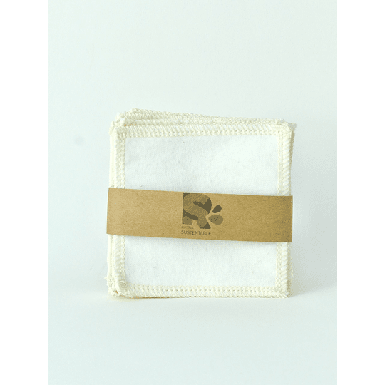 Kit estuche + pack 8 pétalos desmaquillantes reutilizables
