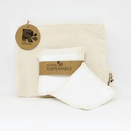 Kit estuche + pack 8 pétalos desmaquillantes 10 cm