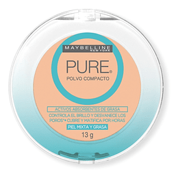 Polvo Compacto Anti-Imperfecciones & Anti-brillo MAYBELLINE Pure