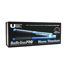 Combo Plancha Azul Babyliss Pro Nano Titanium BABNTBLPP2