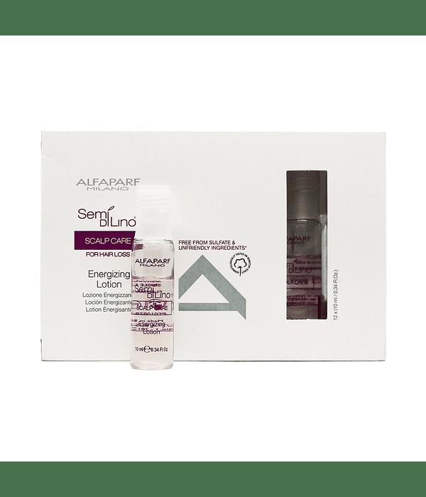 Ampolletas ALFAPARF MILANO Semi Di Lino Scalp Care Stimulating Super Serum 12 X 13ml
