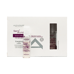 Ampolletas ALFAPARF MILANO Semi Di Lino Scalp Care Stimulating Super Serum 12 X 13ml