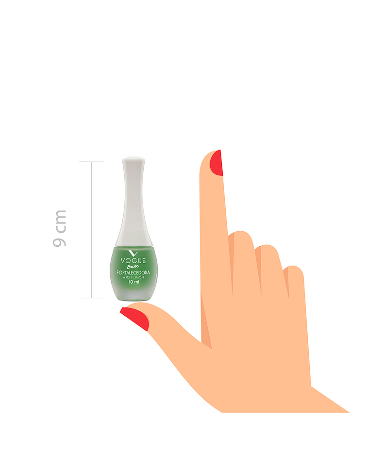 Base Fortalecedora Ajo y Limón Vogue 10ml
