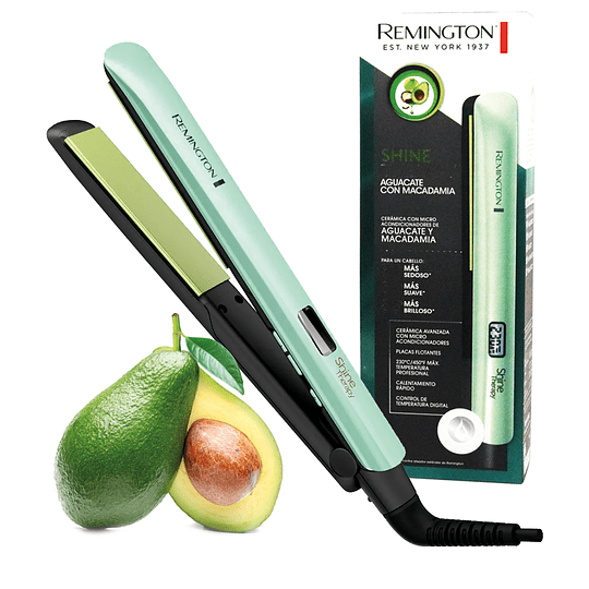 Plancha Digital de Aguacate y Macadamia Profesional REMINGTON Shine Therapy S-9960