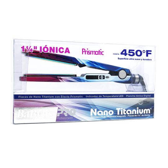 "Plancha Iónica Digital BaBylissPRO Nano Titanium 1 ¼"" Serie 2091 Prismatic"