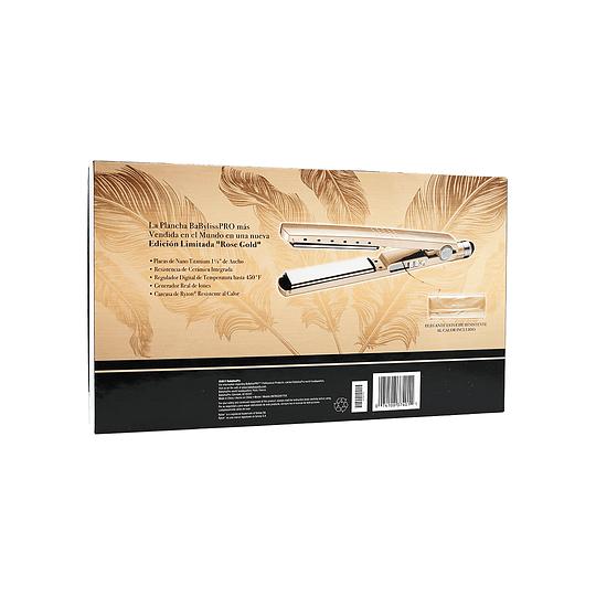 "Plancha Iónica Digital BaBylissPRO Nano Titanium 1 ¼"" Serie 2091 Oro Rosa"