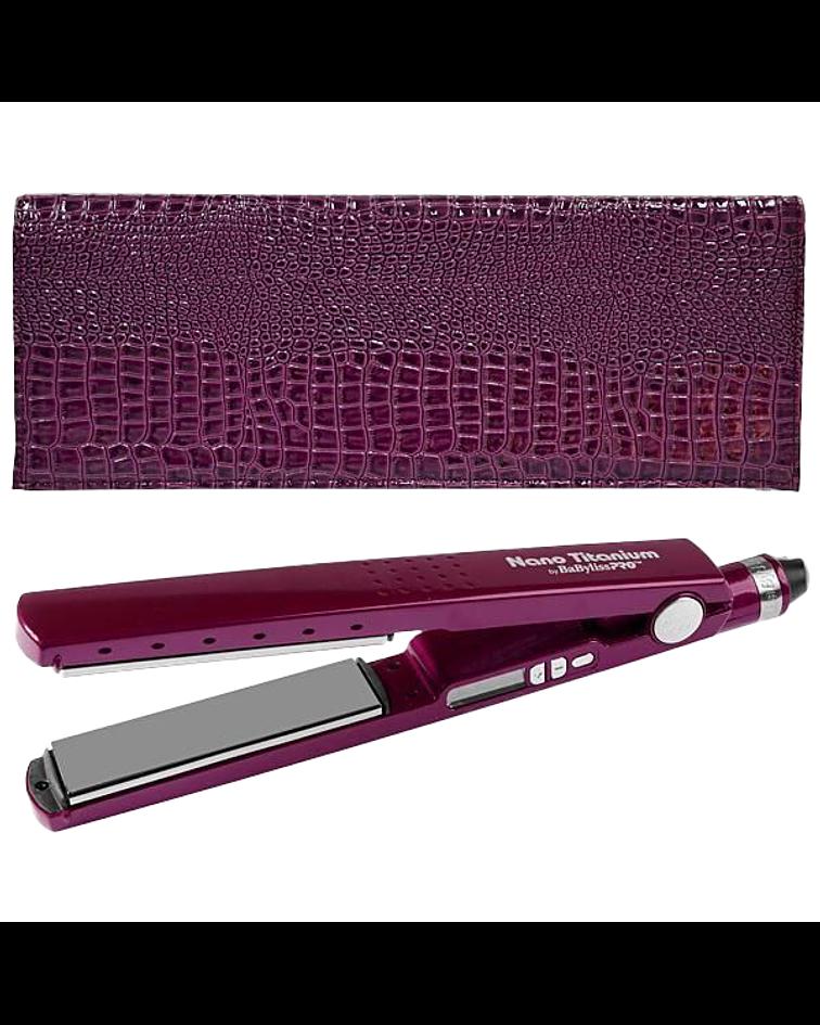 "Plancha Iónica Digital Elegance BaBylissPRO Nano Titanium 1 ¼""  Purpura"