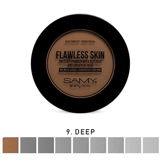 Polvo Compacto Piel Mixta a Grasa SAMY Flawless Skin