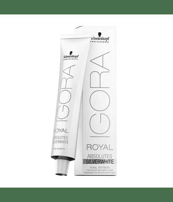 Tintura Permananente IGORA ROYAL ABSOLUTES SilverWhite Matizador
