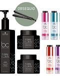 Kit exclusivo de salón BC Bonacure Fibre Clinix + Obsequio Plancha Profesional