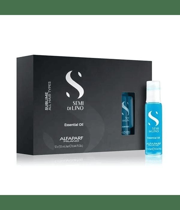 Ampolletas ALFAPARF MILANO Semi Di Lino Sublime Essential Oil 12 X 13ml
