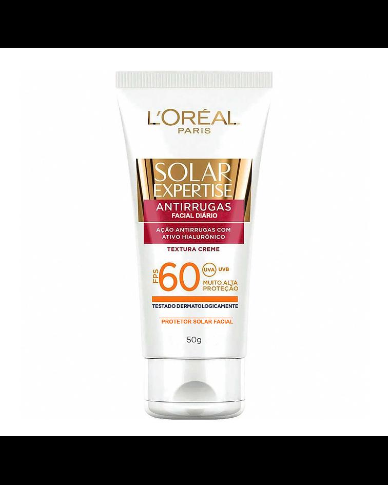Protector Solar Antiarrugas Facial Diario L'ORÉAL Solar Expertise SPF 60 50g