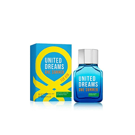 Perfume Benetton United Dreams One Summer (azul) Hombre Edt 100 ml