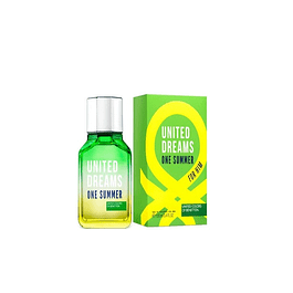 Perfume Benetton United Dreams One Summer (verde) Hombre Edt 100 ml