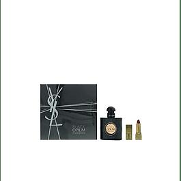 PERFUME BLACK OPIUM DAMA EDP 30 ML / LABIAL ESTUCHE