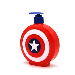 Jabon Liquido Capitan America Escudo 3D Niño 500 ml