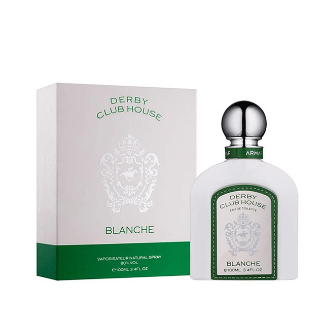 PERFUME ARMAF DERBY BLANCHE WHITE HOMBRE EDT 100 ML