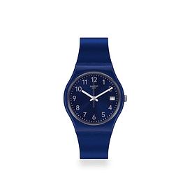 Reloj Swatch Gn416 Unisex Silver In Blue Original