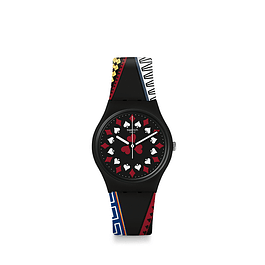 RELOJ SWATCH GZ340 UNISEX CASINO ROYALE ORIGINAL