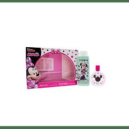 Perfume Minnie Mouse Niña Edt 100 ml / Gel 300 ml (8124)  Estuche