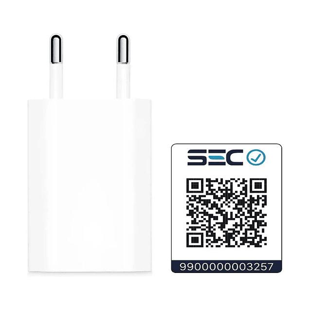 CARGADOR APPLE USB POWER ADAPTER 5W PARA IPOD E IPHONE
