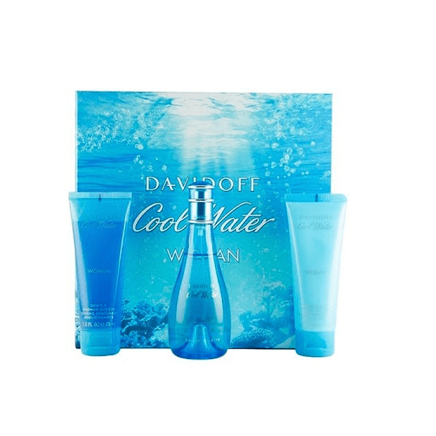 Perfume Cool Water Dama Edt 100 ml Estuche