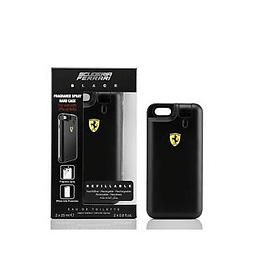 Perfume Ferrari Black Varon Edt 25 ml X 2 + Carcasa Iphone 6 - 6S