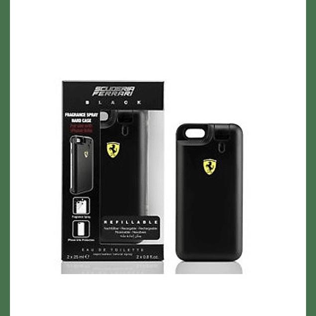 Perfume Ferrari Black Hombre Edt 25 ml X 2 + Carcasa Iphone 6 - 6S
