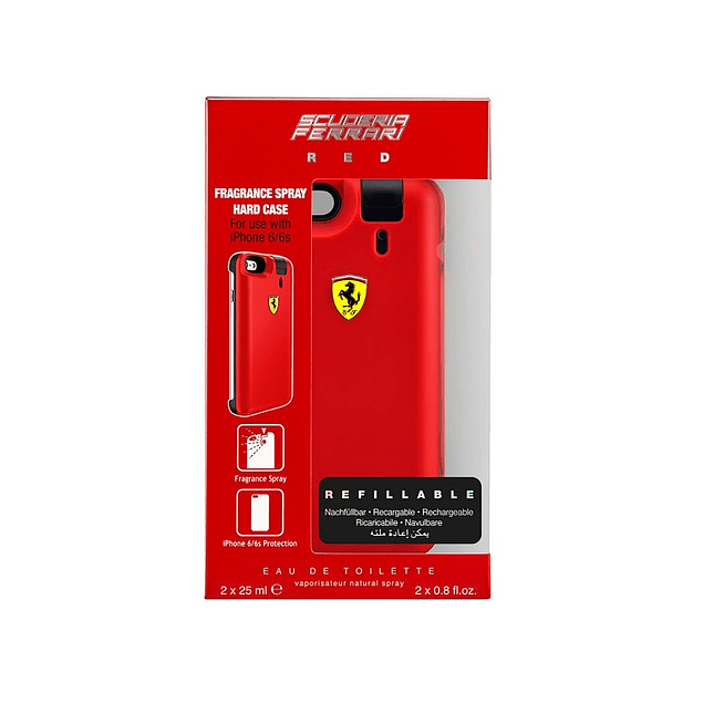 Perfume Ferrari Red Hombre Edt 25 ml X 2 + Carcasa Iphone 6 - 6S