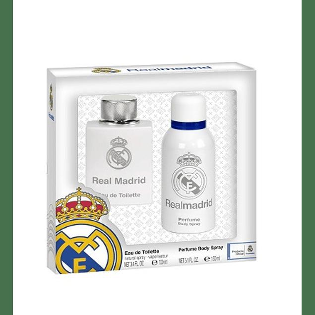 Perfume Real Madrid Hombre Edt 100 ml + 150 ml Desodorante Estuche