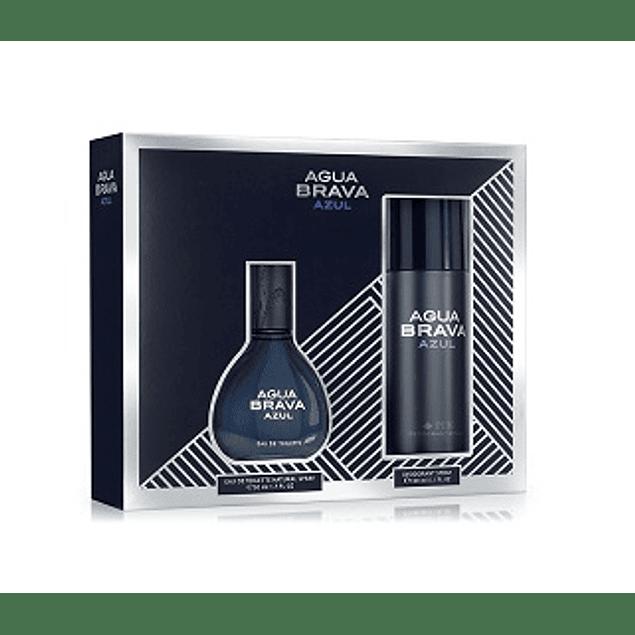 Perfume Agua Brava Azul Con Spray Varon Edt 100 ml Estuche