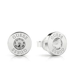 Aros Mujer Guess Clear Crystal & Logo Studs (Rh) Ube78094