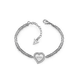 Pulsera Mujer Guess Heart & Logo Central Charm Br (Rh) Ubb78096-S
