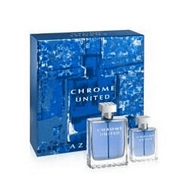 Perfume Chrome United Varon Edt 100 ml + 30 ml Estuche