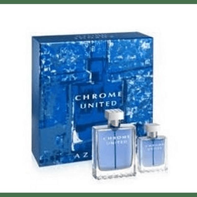 Perfume Chrome United Hombre Edt 100 ml + 30 ml Estuche