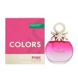 Perfume Benetton United Colors Pink Mujer Edt 80 ml