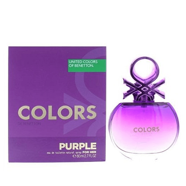 Perfume Benetton United Colors Purple Mujer Edt 80 ml