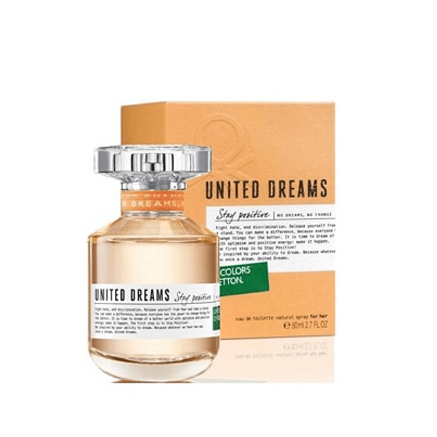 Perfume Benetton United Dreams Stay Positive Dama Edt 80 ml