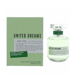 PERFUME BENETTON UNITED DREAMS LIVE FREE DAMA EDT 80 ML