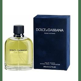 Perfume Dolce Gabbana Pour Homme Hombre Edt 200 ml