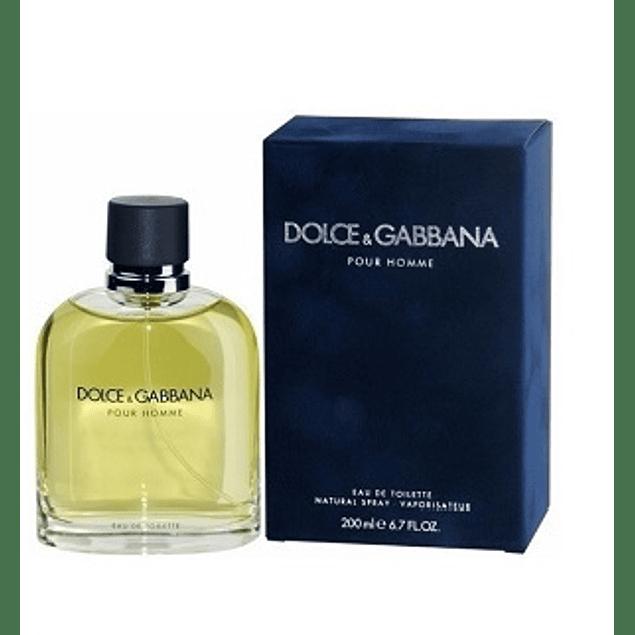 Perfume Dolce Gabbana Pour Homme Varon Edt 200 ml