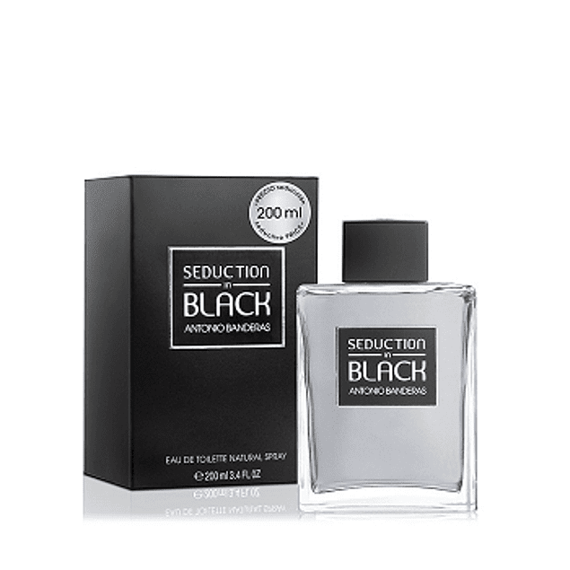 Perfume Black Seduction Hombre Edt 200 ml