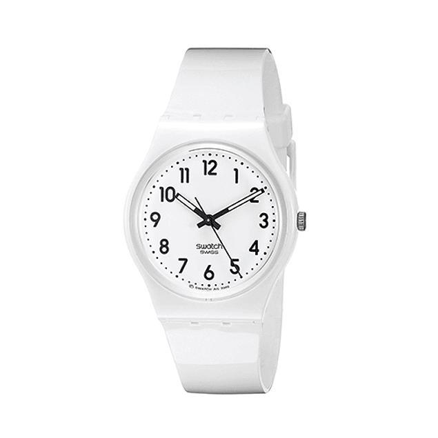 Reloj Swatch Gw1510 Mujer Just White Soft