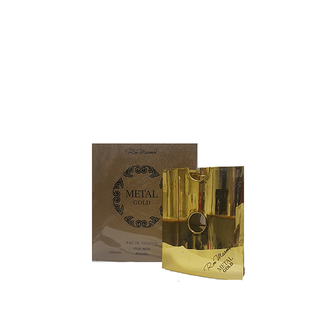 Perfume Metal Gold Ron Marone Hombre Edt 100 ml