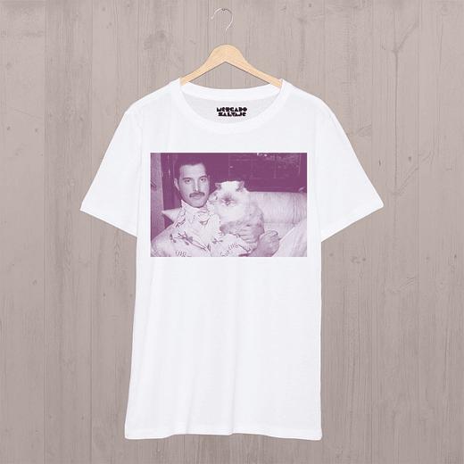 Polera Freddie Mercury y su Gato  ea34a324b54cc