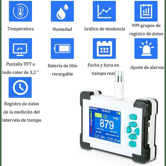 Monitor de Dióxido de carbono Co2 ambiental
