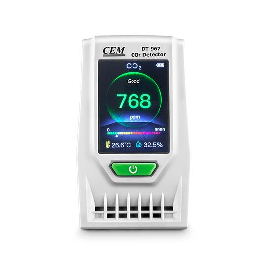 Monitor de Co2 ambiental de escritorio CEM DT-967